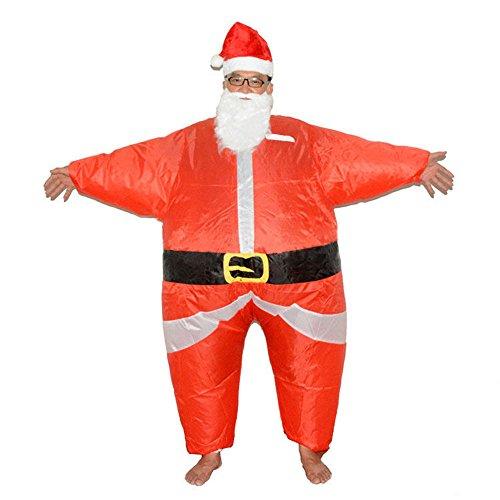 fanituhan クリスマス サンタ  インフレータブル 空気充填 膨張式 衣装セット 着ぐるみ コスチューム 大人用 ハロウィン パーティー 学園祭り 忘年会