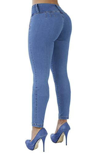 The Slimming Curvify Stretch Jean: a High Waisted Butt Lifting Skinny Jeans for Women (Indigo Washed, 5, 767) (Apple Womens Bottoms)
