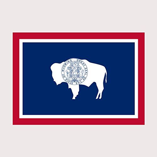Wyoming Pride State Flag Full Color Two Pack - 2 Inch Decal for Macbook, Laptop or other device