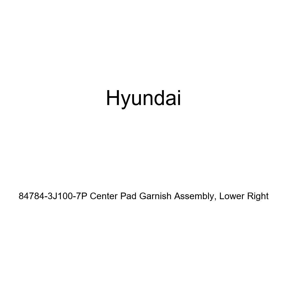 Genuine Hyundai 84784-3J100-7P Center Pad Garnish Assembly Lower Right