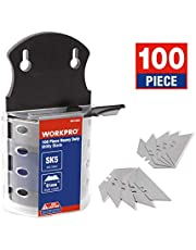 WORKPRO Utility Knife Blades Dispenser SK5 Steel 100-pack