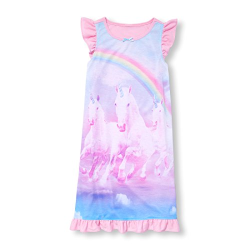 The Children's Place Big Girls' Night Gown, Multi-Colored 96483, M (Kids Places)