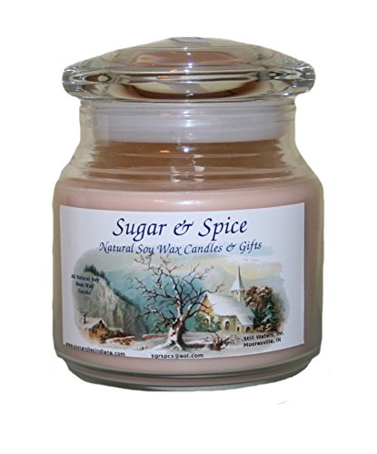Sugar & Spice Natural Soy Wax Candles 16 Ounce (Peanut Bu...