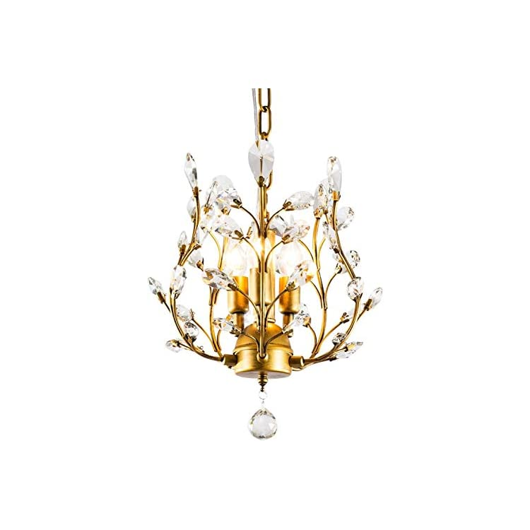 NA ZGGYA Art Indoor Outdoor Pendant Light 3-Light Crystal Hanging Lights,Drop Light,Crystal Pendant Lighting,Suspension…