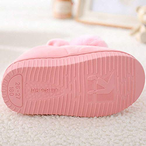 Girls Bootie Slippers Cute Bunny Winter Warm Kids Indoor Outdoor Fuzzy Shoes by Mtzyoa (Image #3)