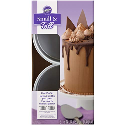 (Wilton Small and Tall Aluminum Cake Pans, 2-Piece - Layer Cake Pan Set)