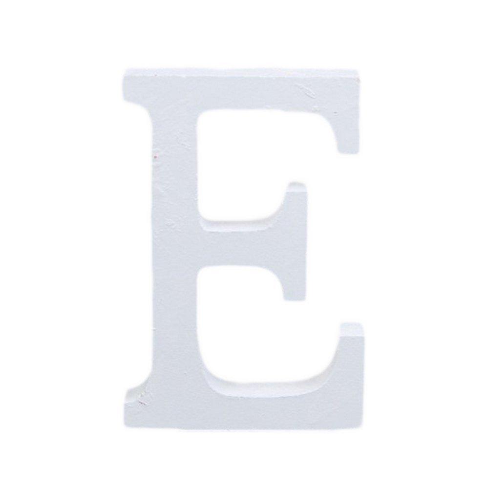 A Cosanter 1x Alfabeto Ingl/és Moderno 26 Letras Blanco Madera Casa Fiesta Decoraci/ón de la Boda de Tiro de Alta 8cm