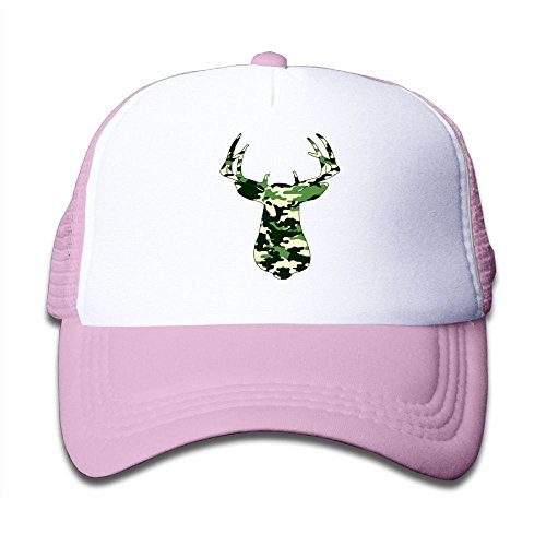Elk Cap - Mesh Baseball Hat Kid's Camouflage Graphic Elk Casual Adjustable