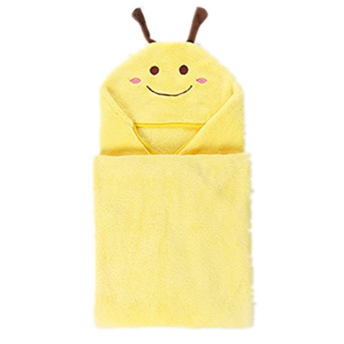 Kids Cartoon Animal Polyester Bath Towel for Boys and Girls (Yellow) by AVGe
