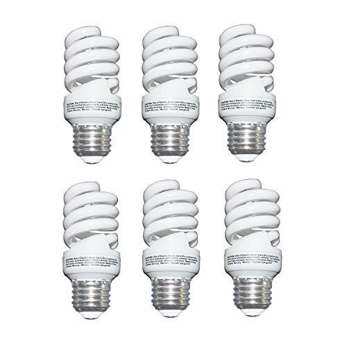 (13 Watt CFL Light Bulbs (60 Watt) Soft White 2700K 1040LM spiral bulb Medium Base Compact Fluorescent Bulb (6 Pack))