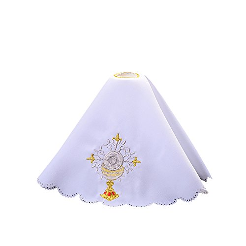 - BLESSUME Altar Cloth Chalice Pall Chalice Veil (White 1)