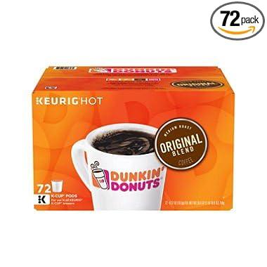 Dunkin Donuts KCups Original Flavor 042 oz 72 Pack Amazoncom