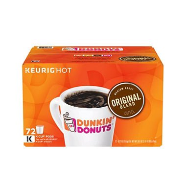 Dunkin' Donuts Original Blend K-Cups (72 ct.) (Pack of 6) by Dunkin' Donuts