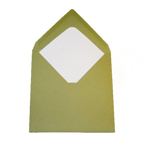 75/Buste quadrate/ 100/G//M/² feuchtkl ebend//Grammatura /Oliva Verde 145/X 145/mm 14,5/x 14,5/cm/ /Triangolare Con Fodera Interna//chiusura