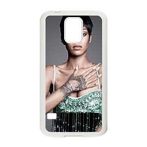 J-LV-F Customized Print Rihanna Hard Skin Case Compatible For Samsung Galaxy S5 I9600