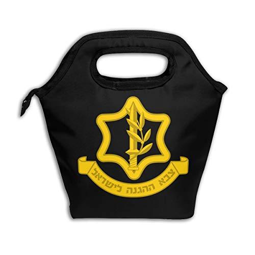 - LUNCHGOGO IDF Israeli Defense Force Logo Lunch Box Bag, Cool Insulated Cooler Ice Lunchbox Tote Bag Handbag for Men Women Adult Kids