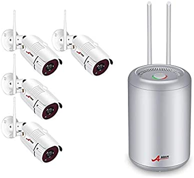 ANRAN 4CH 1080P Wireless Security System HD Outdoor Home WiFi IP Camera 2MP 1TB