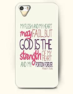 iPhone 4 / 4s Case My Flesh And My Heart May Fail But God Is The Strength Of My Heart And My Portion Forever Psalm 73:26 - Bible Verses - Hard Back Plastic Case - OOFIT Authentic by icecream design