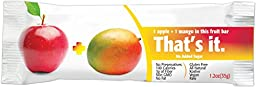 That\'s It. Apple Fruit Bar, Best Seller Flavor Variety Pack (Banana, Blueberry, Coconut, Mango, Pineapple, Strawberry), Pack of 24 (4 x 6), 1.2 oz (35 g), Assorted Fruit Bars Super Package