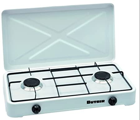 Cocina Magna BUTSIR blanca con dos quemadores: Amazon.es: Jardín