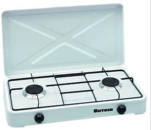 Cocina Magna BUTSIR blanca con dos quemadores: Amazon ...