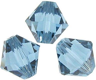 TCC Sourcing - 12 separadores de Cuentas de Cristal Swarovski Elements 5328 Xilion de 8 mm, Color Azul