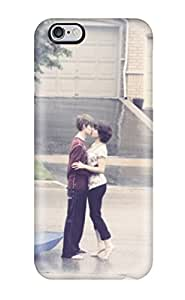 Awesome Design Boy And Girl Kissing In Rain Hard Case Cover For Iphone 6 Plus