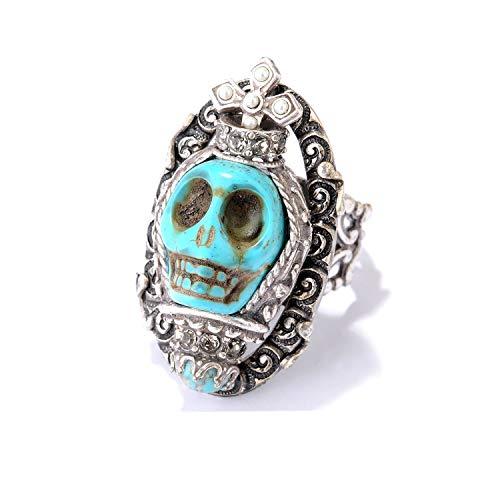 Ollipop Sweet Romance Dia de Los Muertos Southwest Skull Ring