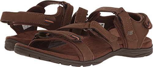 Brown Leather Sport Sandals (New Balance Women's Maya Leather Sandal, Brown, 9 B US)