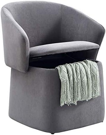 Mission Hills Furniture Flip-Back Vanity Stool
