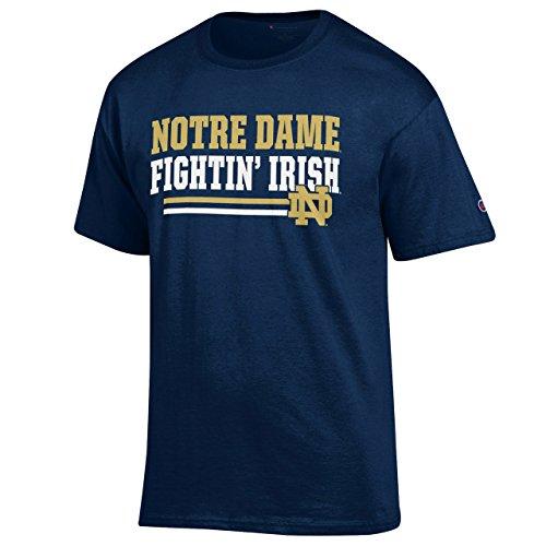 Champion Notre Dame Fighting Irish Adult Block T-Shirt - Navy,