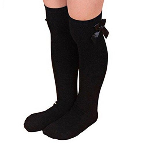 4 Pairs Baby Girls Leg Warmers Bowknot Cotton Stockings Socks - 4