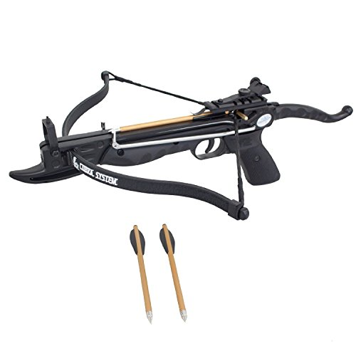 Prophecy 80 Pound Self-cocking Pistol Crossbow with Cobra System Limb and 3 Arrows