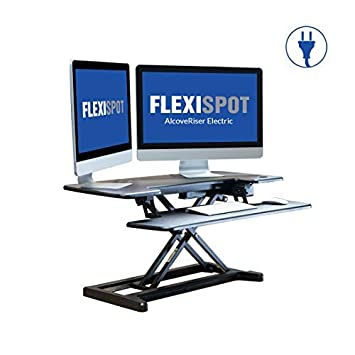 FlexiSpot Motorized Standing Desk – 36 Wide Electric Stand up Desk Computer Riser with Quick Release Keyboard Tray EM7