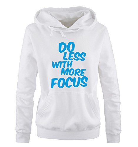 Taglia Taglia Cappuccio S Different Shirts Comedy Comedy Comedy Hoodie Focus Less Sweater Colors XL with blu More bianco DO Donna Op8qP8gxvw