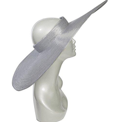 Eric Javits Luxury Fashion Designer Women's Headwear Hat - Saturn - Silver by Eric Javits