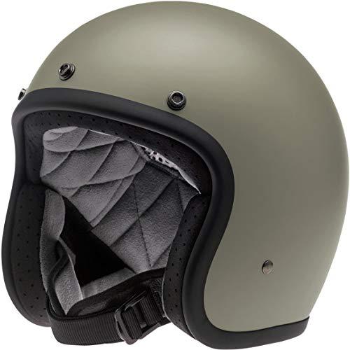 Biltwell Unisex-Adult Open face Bonanza 3/4 Helmet (Flat Titanium, Large) - BH-TIT-FL-DOT-LRG