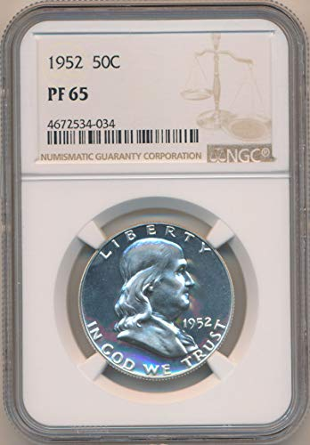 1952 See Pic Franklin PRoof Half Dollar PF65 - 1952 Silver Proof