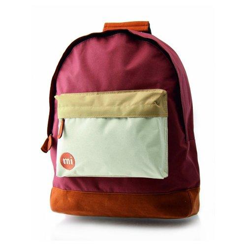 Mi-Pac Tri-Tone Unisex Backpack Burgundy/White/Navy 740004-298 Marron / Marron clair / Crème HOX12YZ