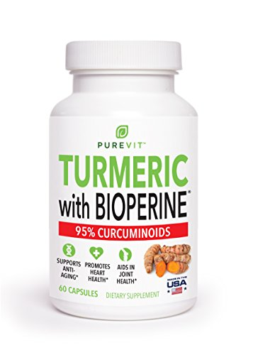 Max Strength Turmeric Curcumin with Bioperine Absorption Enhancer – Powerful 1200 mg Pain Relief Formulation – Best Turmeric Curcumin Supplements for Back Pain, Joint Pain, Inflammation & Health