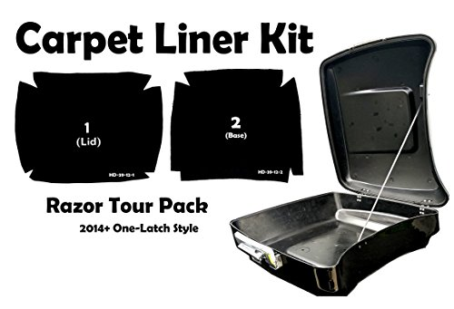 Razor Tour Pack Carpet Liner Kit for 2014-2018 One Latch Style Harley-Davidson Razor Tour Pak (Black) by CaliBikerClub