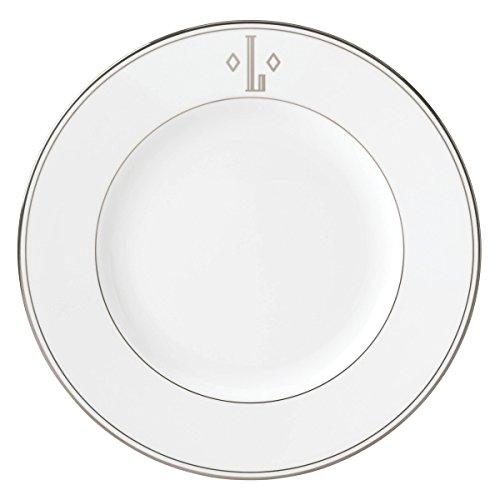 (Lenox Federal Platinum Block Monogram Dinnerware Dinner Plate, L)