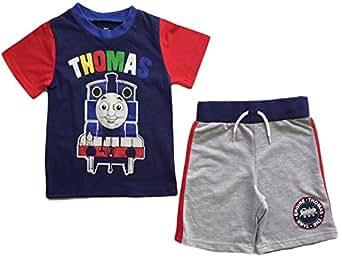 Nick Jr Thomas The Train Little Boys Toddler Short T Shirt Set (2T) Blue