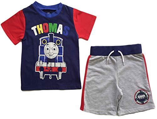 Nick Jr Thomas The Train Little Boys Toddler Short T Shirt Set (5T) - Jr Train
