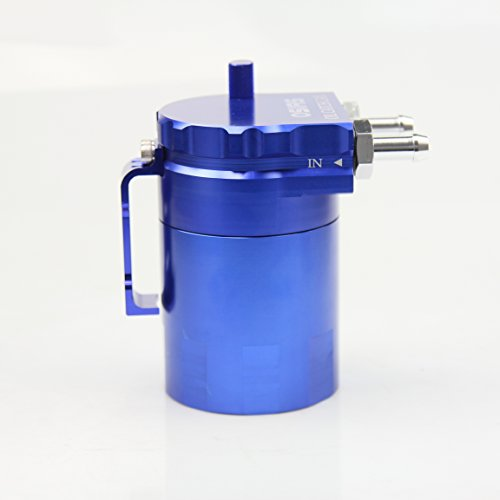OSIAS Polish Baffled Universal Aluminum Oil Catch Can Reservoir Tank 400ml With Breather Filter BLUE by OSIAS (Image #3)