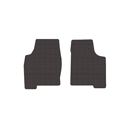 Brightt (MAT-EAC-869) 2 Pc Front Floor Mats - Dark Grey All-Weather Rubber Weave Pattern - for 2001-2005 Ferrari 360 Spider With Fire ExtInguisher (2001 2002 2003 2004 2005 | 01 02 03 04 05) ()