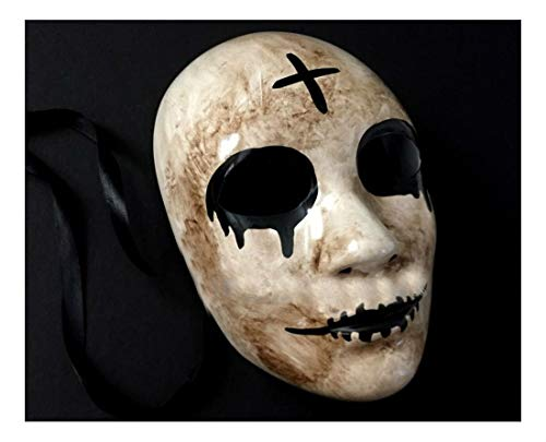 Purge Cross The Purge Movie Anarchy Horror mask Killer Halloween Purge Cross Mask Costume]()