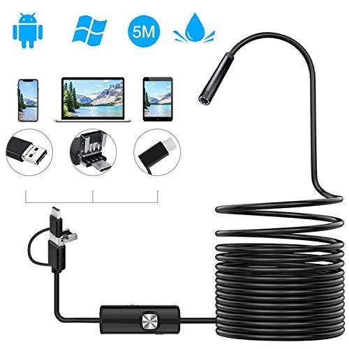 38 opinioni per Endoscopio Android 3 in 1 USB/Micro USB/Type-C 2.0 MP Sonda Telecamera Ispezione