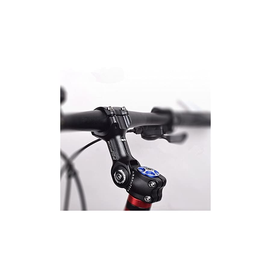 ZHIQIU 60 +60 Degree 90mm 100mm 110mm Adustable Stem Bike Fork Extender Bicycle Handlebar Rise Clamp Adaptor MTB Road Fixed Gear Aluminium Alloy Head Up Adapter Flexible
