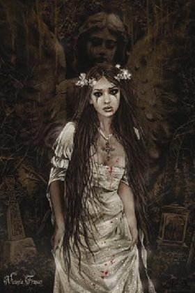 Victoria Frances Dark Angel Sexy Gothic Fantasy Art Poster 24 x 36 inches